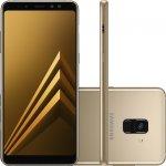 Smartphone Samsung Galaxy A8 Plus Dourado Dual Chip 64GB Tela de 6 Câmera de 16MP