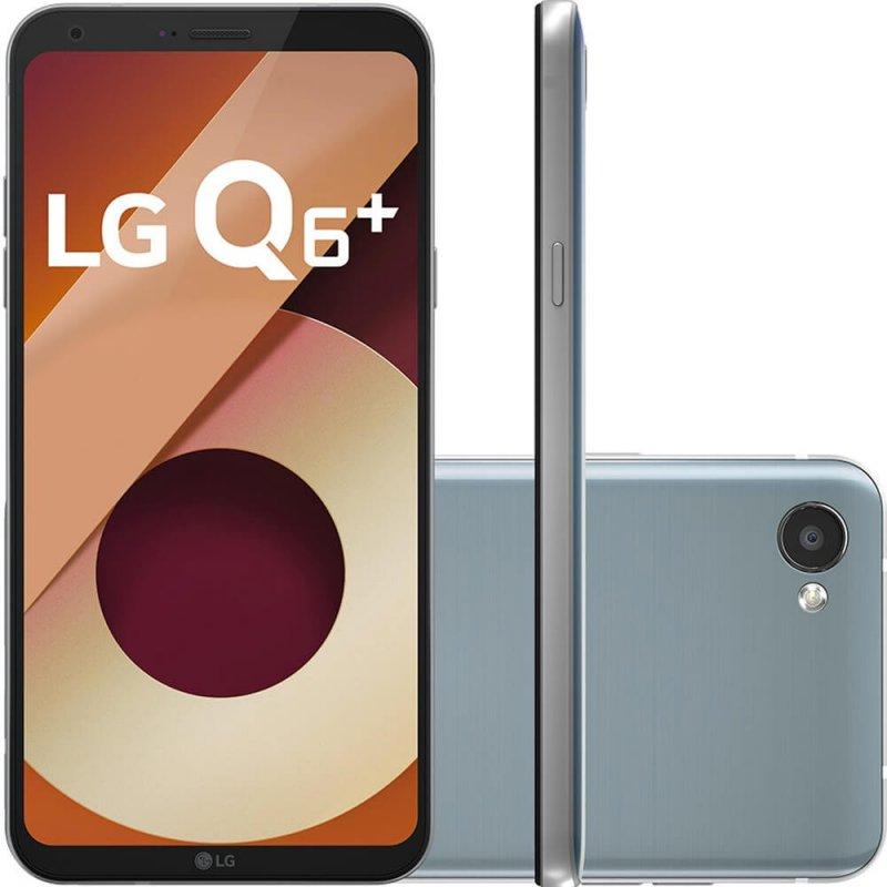 Smartphone LG Q6 Plus LGM700TV Platinum 64GB Tela FullVision 5,5