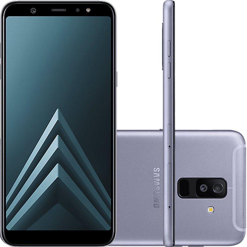 e9333992c Smartphone Samsung Galaxy A6 Plus Prata Tela Infinita de 6