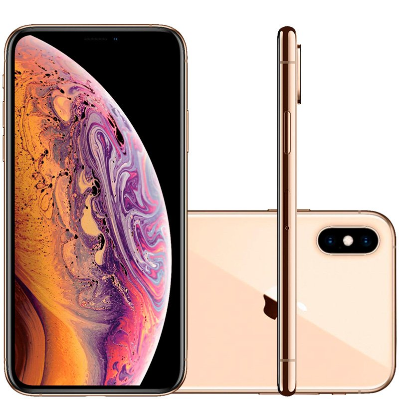 Iphone Xs Apple Dourado 64gb Tela Super Retina Hd 5.8