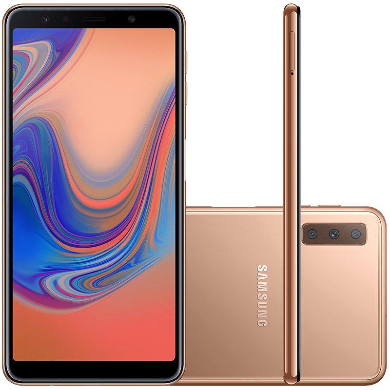 e4a51a358 Smartphone Samsung Galaxy A7 64GB 4GB RAM Tela infinita de 6