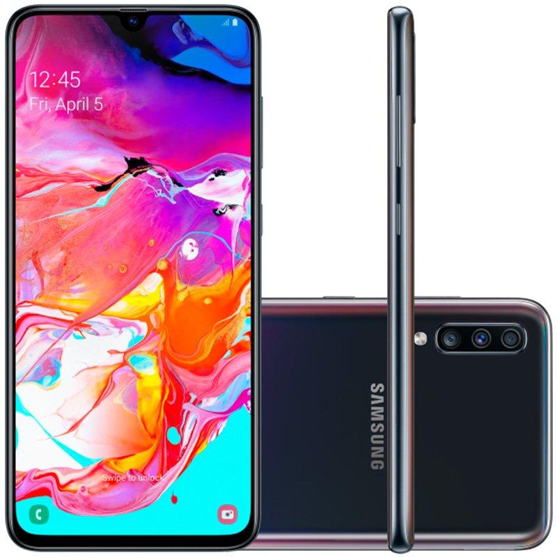 "Smartphone Samsung Galaxy A70 128gb 6.7"" 6gb Ram Câmera Traseira Trip"