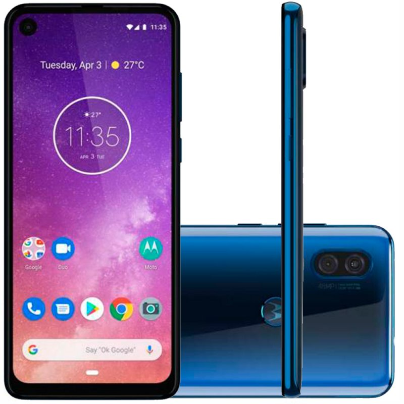 Smartphone Motorola One Vision 128GB 4GB RAM 6.3' Full HD Plus Câmera Traseira Dupla 48MP e 5MP