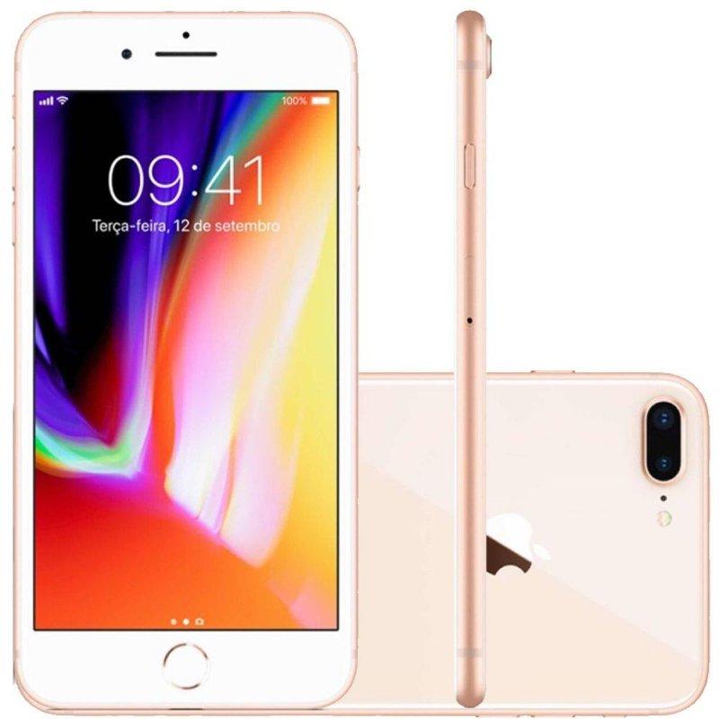 Iphone 8 Plus Apple 64gb Dourado Tela Retina Hd 5,5