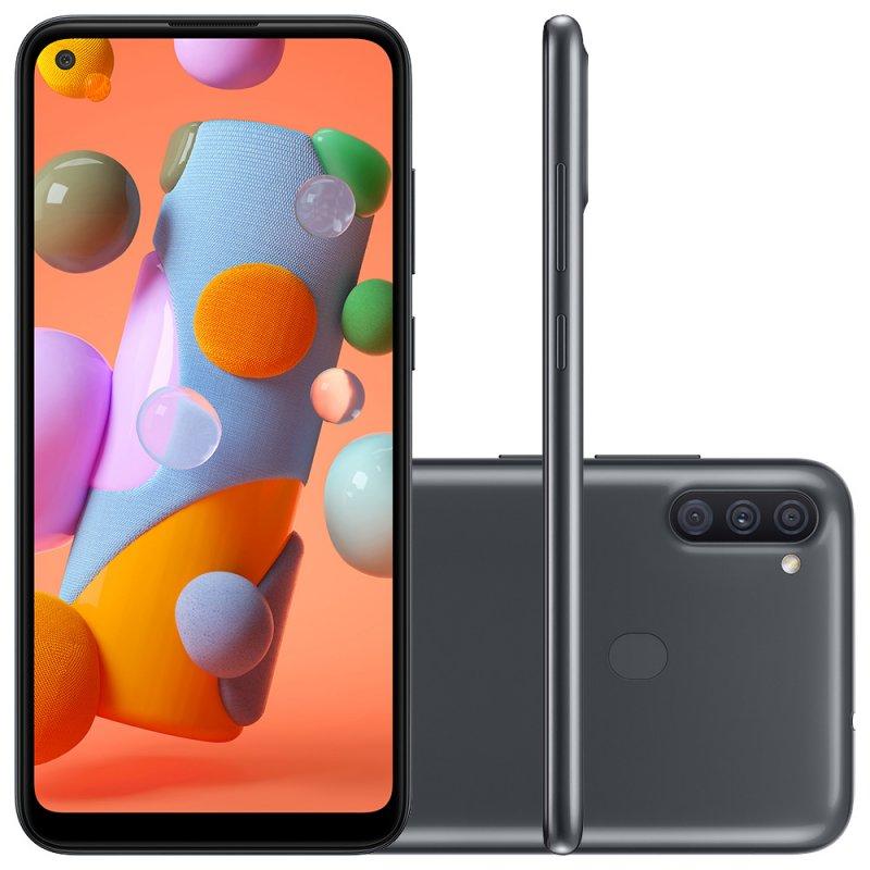 """Smartphone Samsung Galaxy A11 6,4"""" Dual Chip 64gb 3gb Ram Preto Octa"""