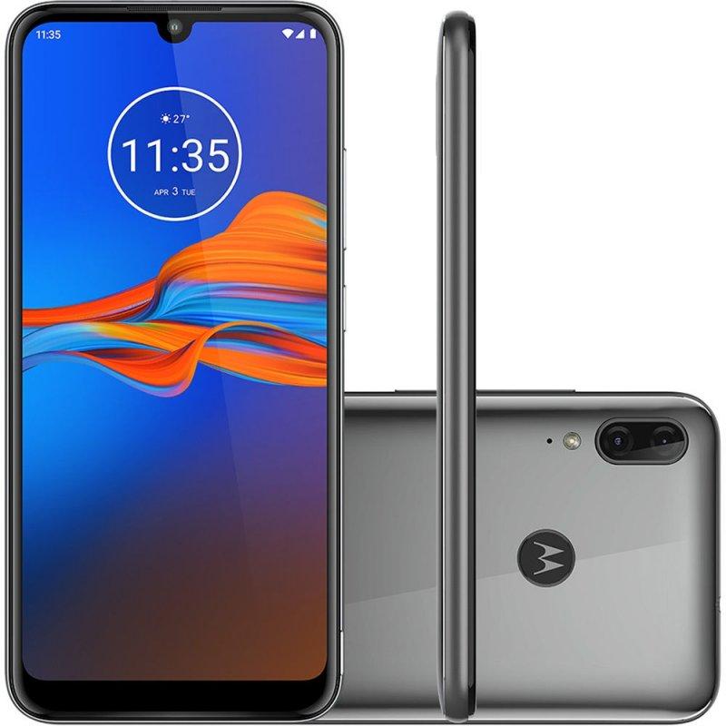 Smartphone Motorola E6 Plus Cinza 32gb 2gb Ram Tela 6.1