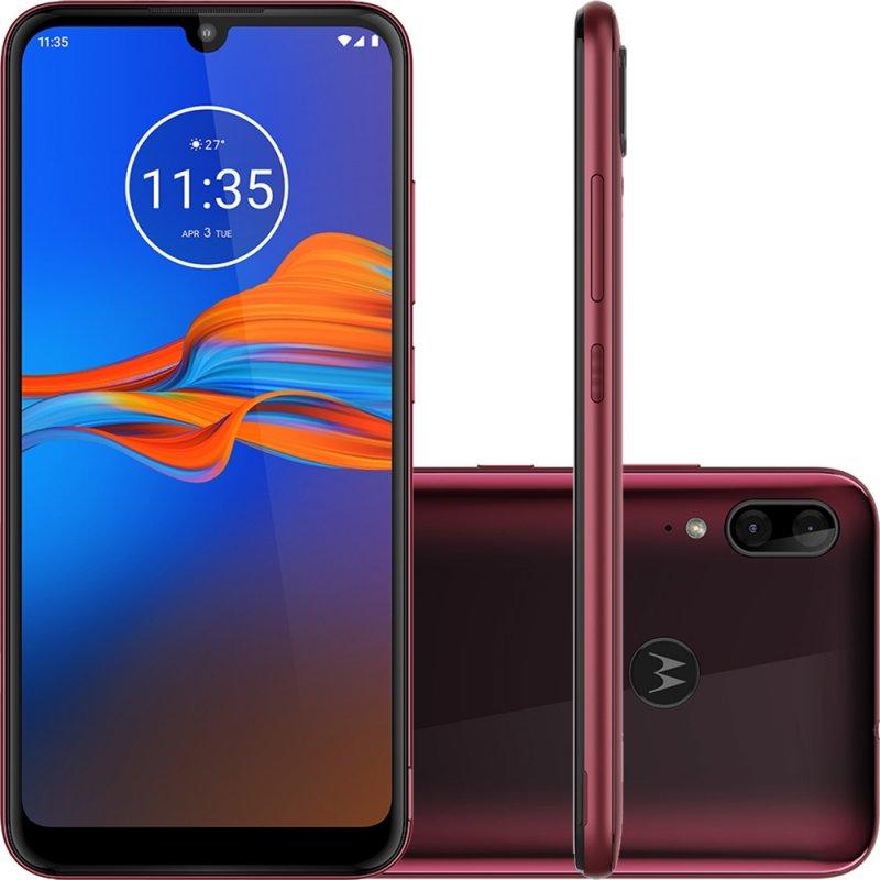 Smartphone Motorola E6 Plus Rubi 64gb 4gb Ram Tela 6.1
