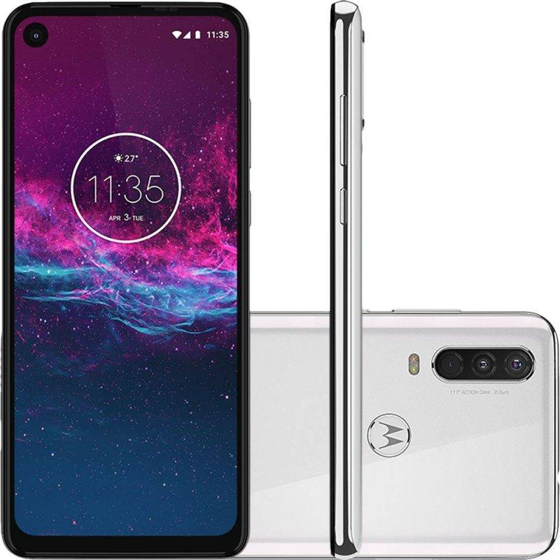 Smartphone Motorola One Action Branco Polar 128gb 4gb Ram 6.3