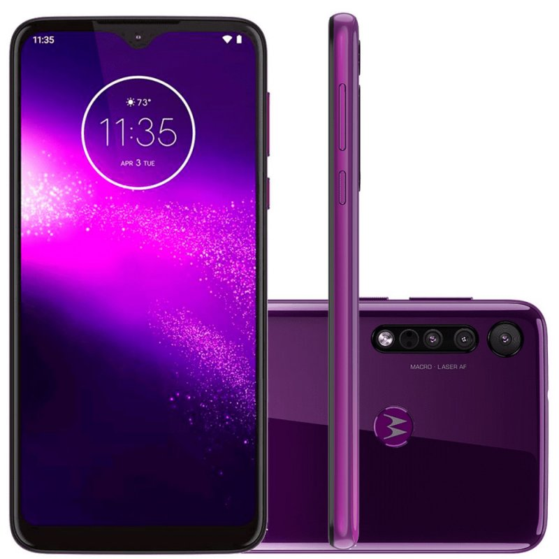 Smartphone Motorola One Macro 64gb Ram 4gb Ultra Violet Tela...