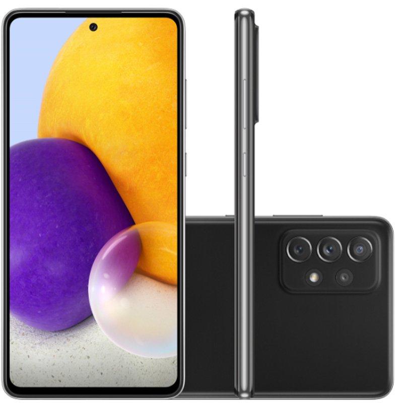 Smartphone Samsung Galaxy A72 Câmera Quádrupla Traseira De 64mp Tela