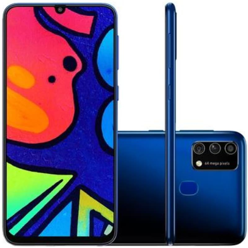 Smartphone Samsung Galaxy M21s Camera Tripla 64mp Azul 64gb 4gb Ram