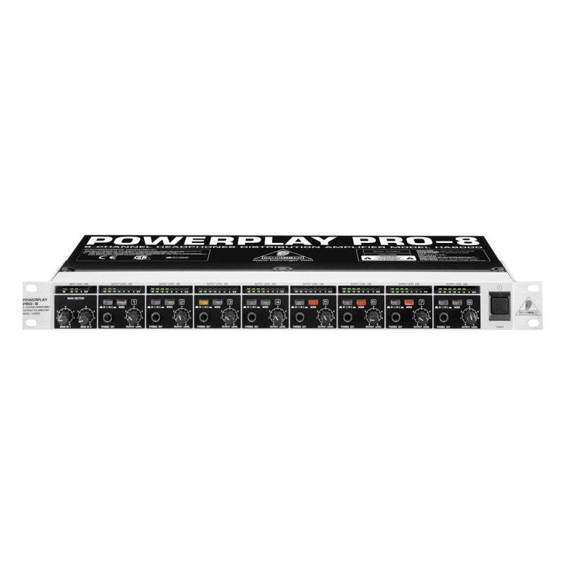 PowerPlay Amplificador de Fones de Ouvido HA8000 Behringer 110v com 8 Canais