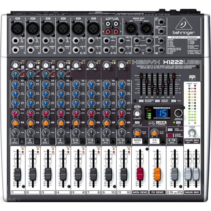 Mixer / Mesa de Som Xenyx X1222USB Behringer Bivolt com 16 Entradas