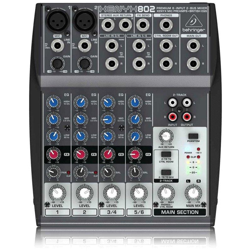 Mixer / Mesa de Som Xenyx 802 Behringer 110v com 8 Entradas