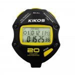 Cronômetro Kikos 20 Voltas CR20 Preto e Amarelo com Temporizador