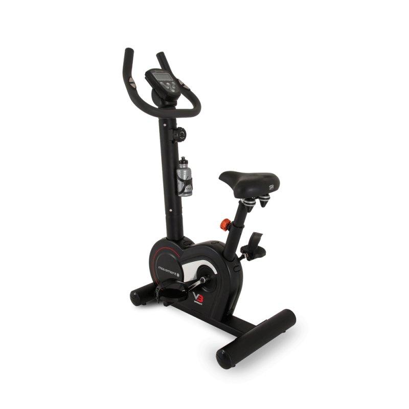 Bicicleta Ergométrica Vertical V-3 Movement Preta Em Aço Com Display