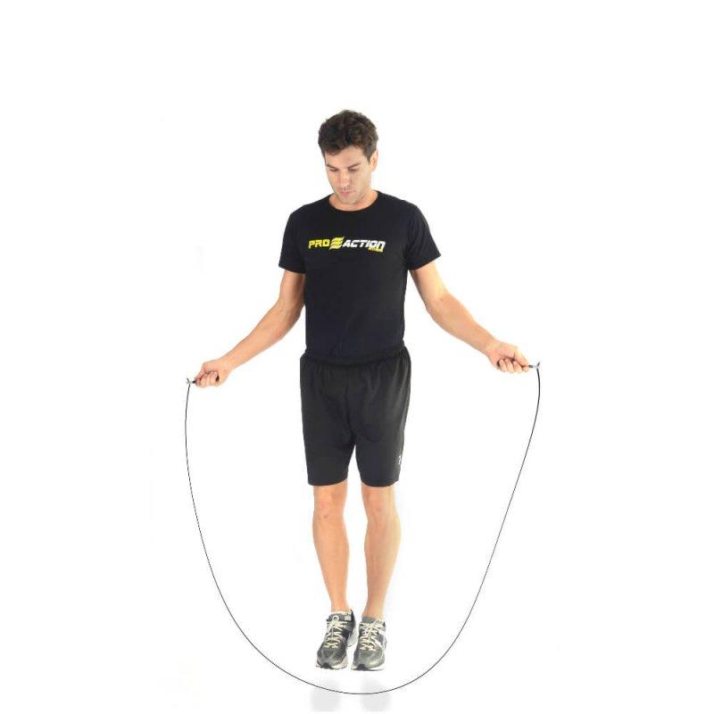 Corda de Pular Preta Proaction G190 com Contador