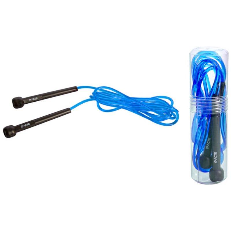 Corda de Pular Acte Sports T96 No Tubo Azul para Treinamento Funcional