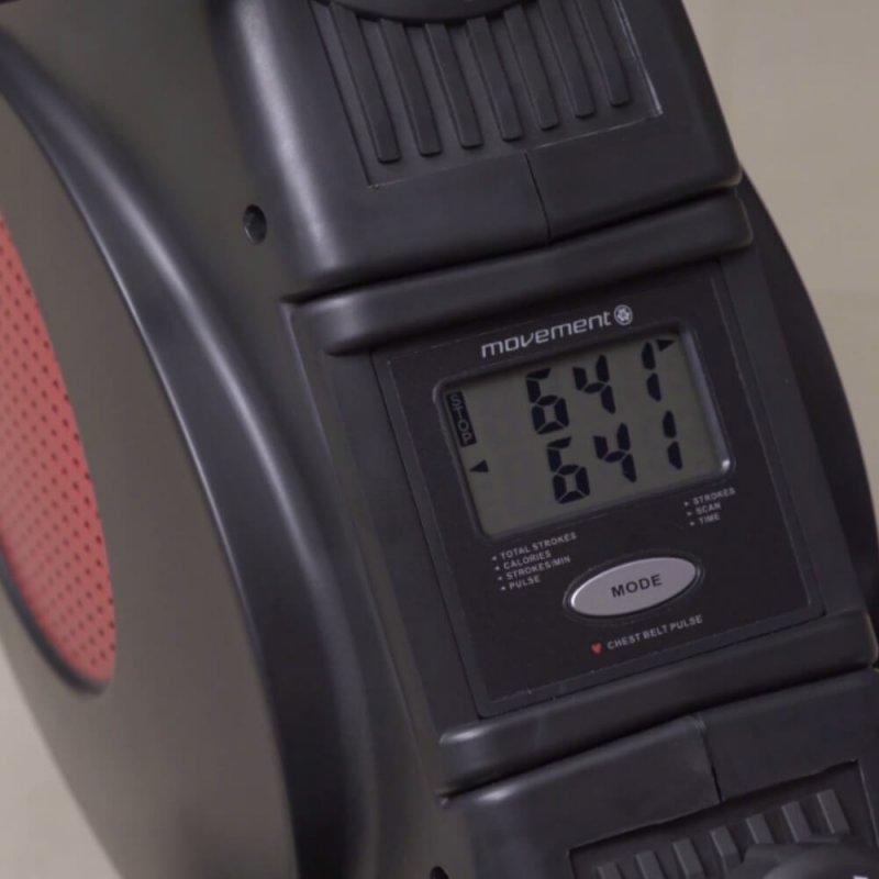 Remo Residencial Magnético Movement ROW2 Preto Com Monitor LCD 3