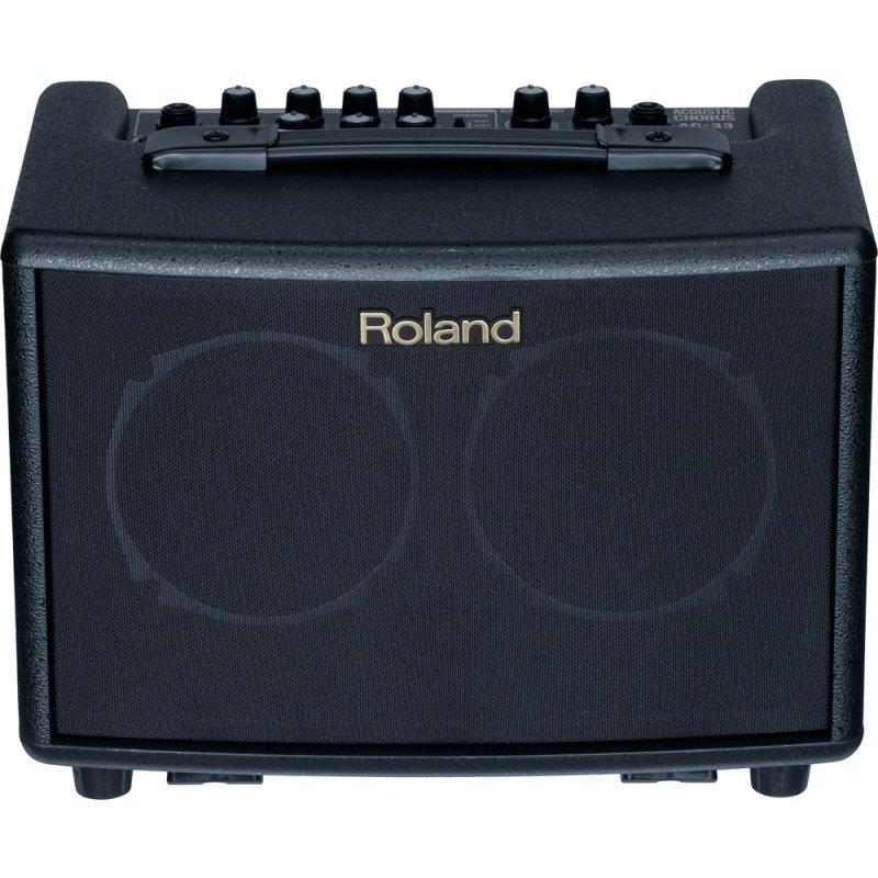 Amplificador de Violão Roland AC - 33 Preto com Efeitos e Loop