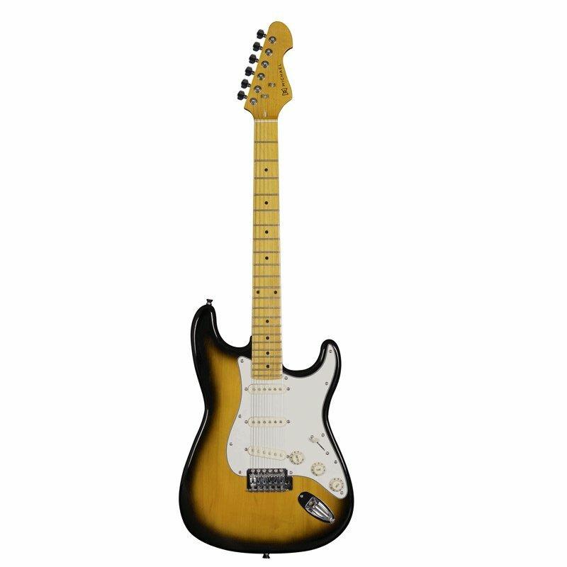 Guitarra Strato Michael Linha Stonehenge Gm222n Vs 6 Cordas 3 Captado