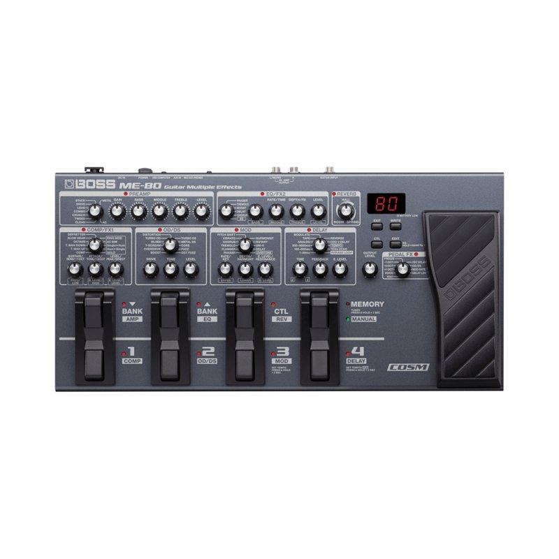 Processador ME - 80 Boss Cinza de Efeitos e Amplificadores