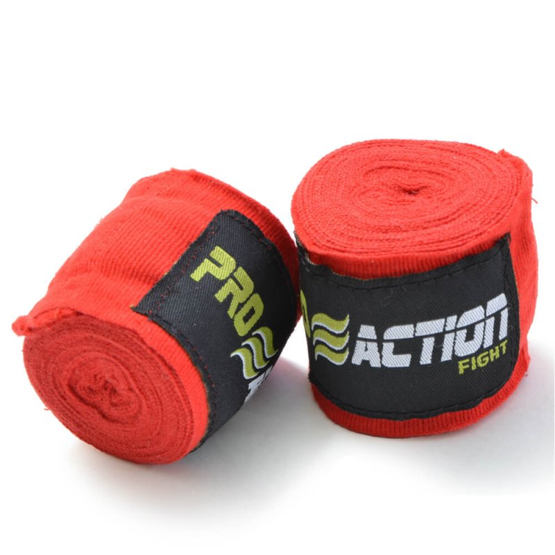 Bandagem Elástica com Poliéster Proaction Vermelha - Par 3Mts