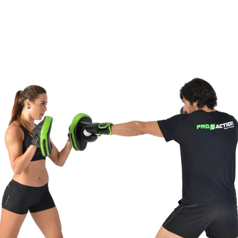 Luva de Boxe e Muay Thai Profissional Proaction Preta - 12Oz