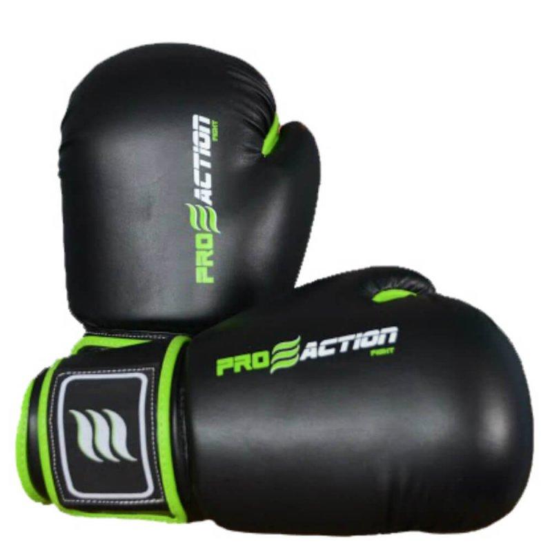 Luva de Boxe e Muay Thai Profissional Proaction Preta - 14Oz