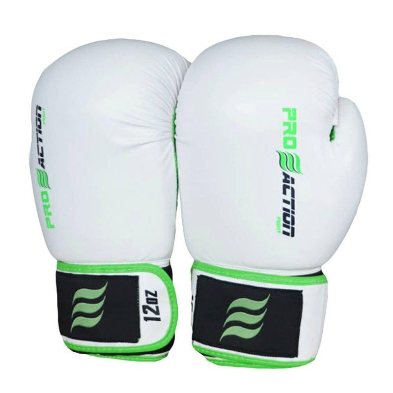 Luva de Boxe e Muay Thai Profissional Proaction Branca - 12Oz