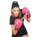 Luva de Boxe e Muay Thai Profissional Proaction Pink - 12Oz