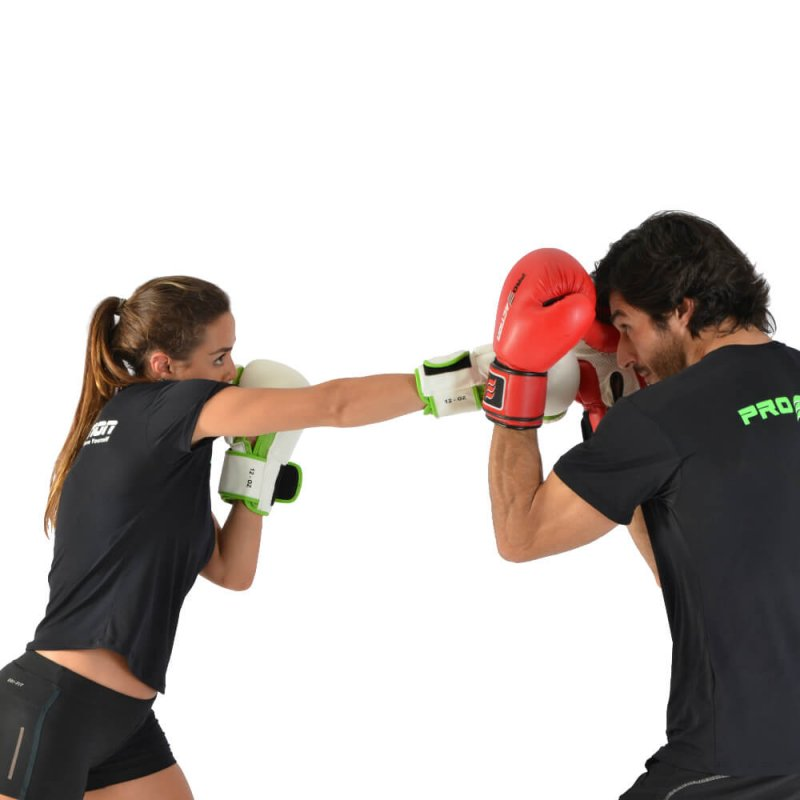 Luva de Boxe e Muay Thai Profissional Proaction Branca - 14Oz