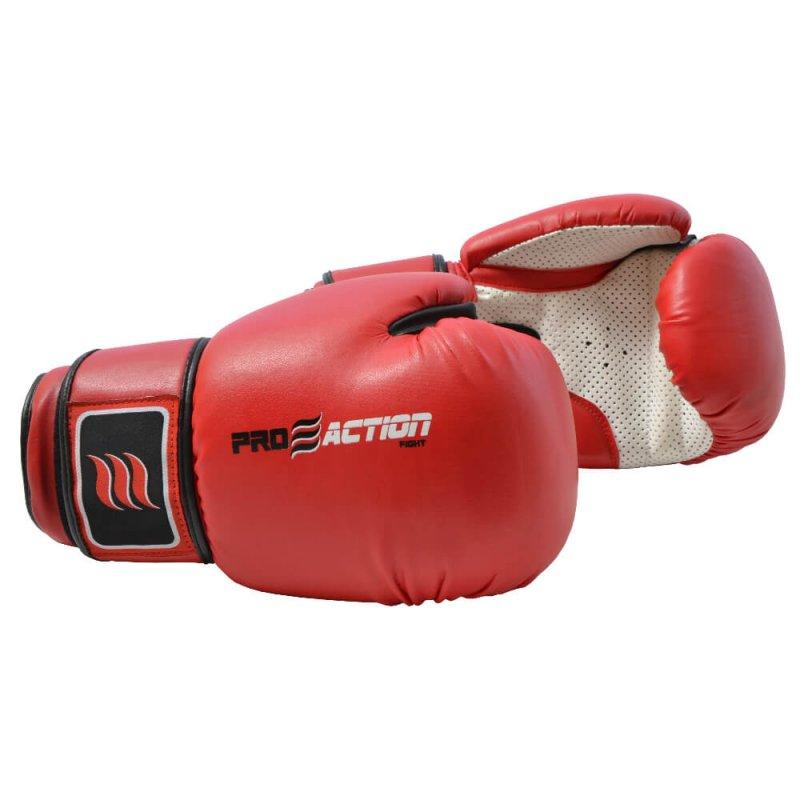Luva de Boxe e Muay Thai Profissional Proaction Vermelha - 14Oz