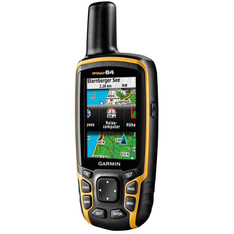 GPS Esportivo Portátil Garmin GPSMAP 64 Preto e Amarelo com Tela de 2,6