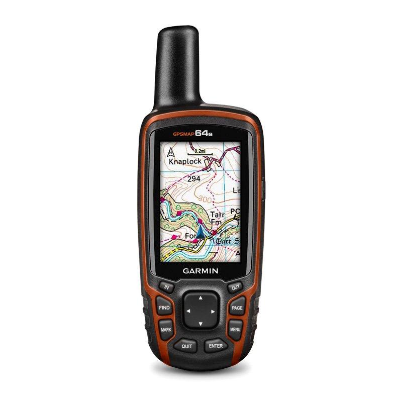 GPS Esportivo Portátil Garmin GPSMAP 64s Preto e Laranja com Tela de 2,6 ´ 4GB e Bluetooth