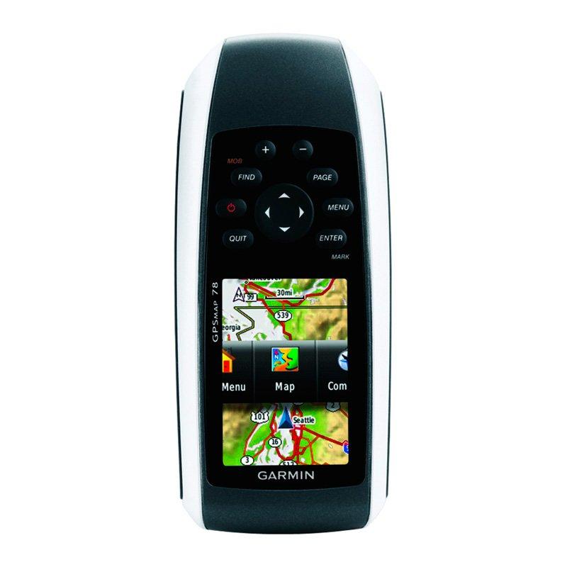 GPS Esportivo Portátil Garmin GPSMAP 78 Preto 1,7GB de Memória USB e Entrada para MicroSD Fitness Preto GPS 2,6 polegadas