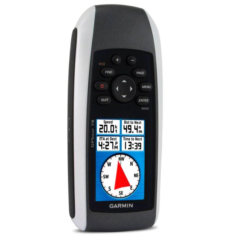 GPS Esportivo Portátil Garmin GPSMAP 78 Preto 1,7GB de Memória USB e Entrada para MicroSD