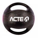 Medicine Ball Acte T109 com Pegada de 5kg Preta e Rosa