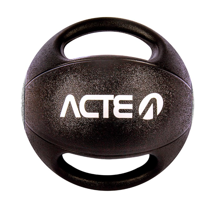 Medicine Ball Acte T110 com Pegada 7KG Preta e Cinza
