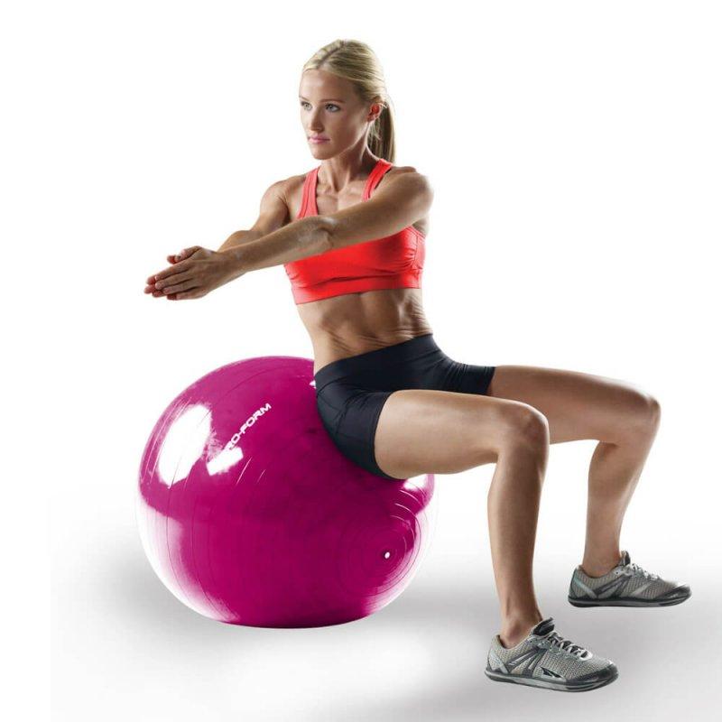 Bola com Estabilizador Proform Lilás Stabilit 65 cm Até 150kg