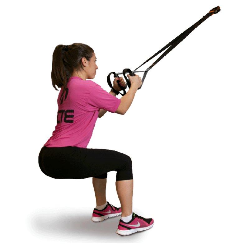 Fita de Suspensão Funcional Acte T84 Preta para Treino de Flexibilidade e Suporte de até 140kg