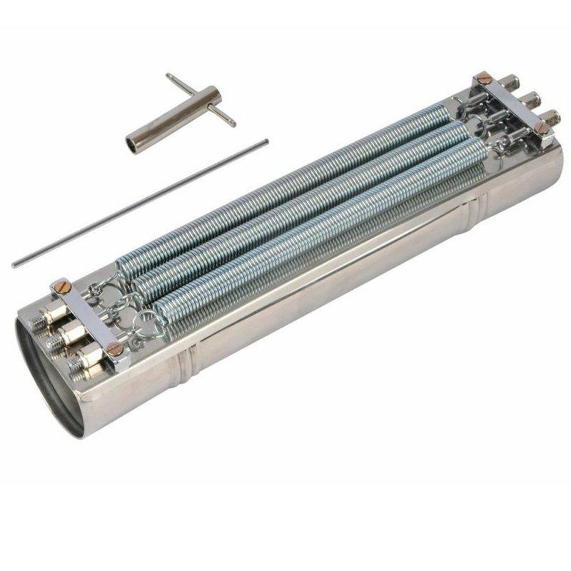 Reco - Reco Contemporanea 91C de Aço Inox 3 Molas Ferragem Cromada - Acompanha Baqueta