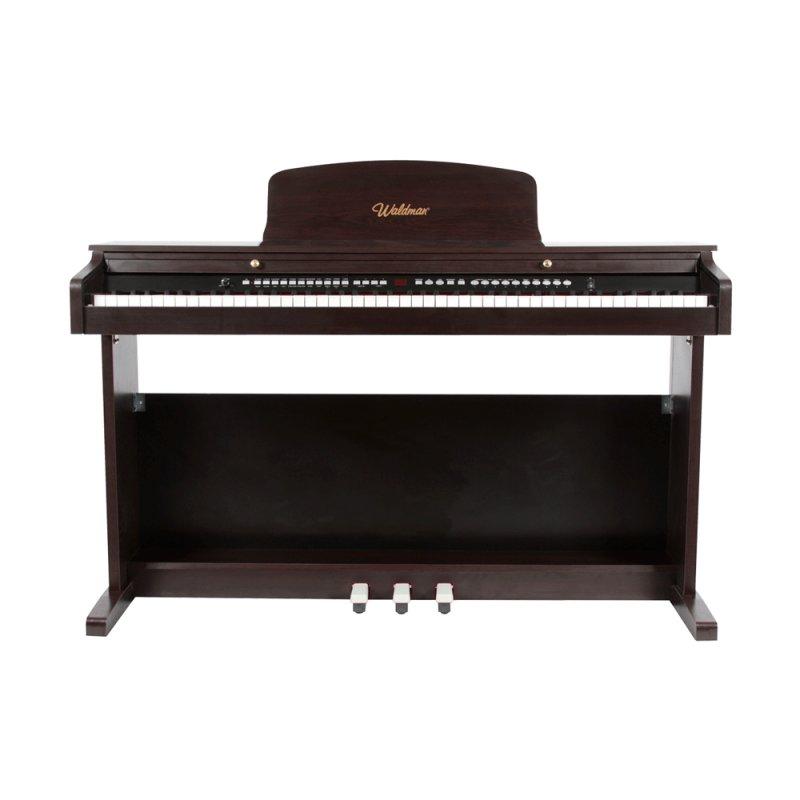 Piano Digital Waldman SYG88 Marrom com 88 Teclas 100 Estilos e Função Midi