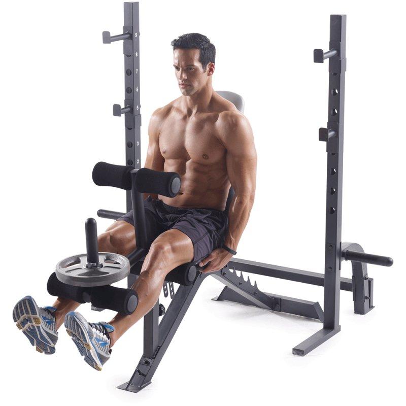 Banco de Musculação Weider Pro 395B Até 120 Kg com 6 Níveis de Inclinação Cinza e Branco