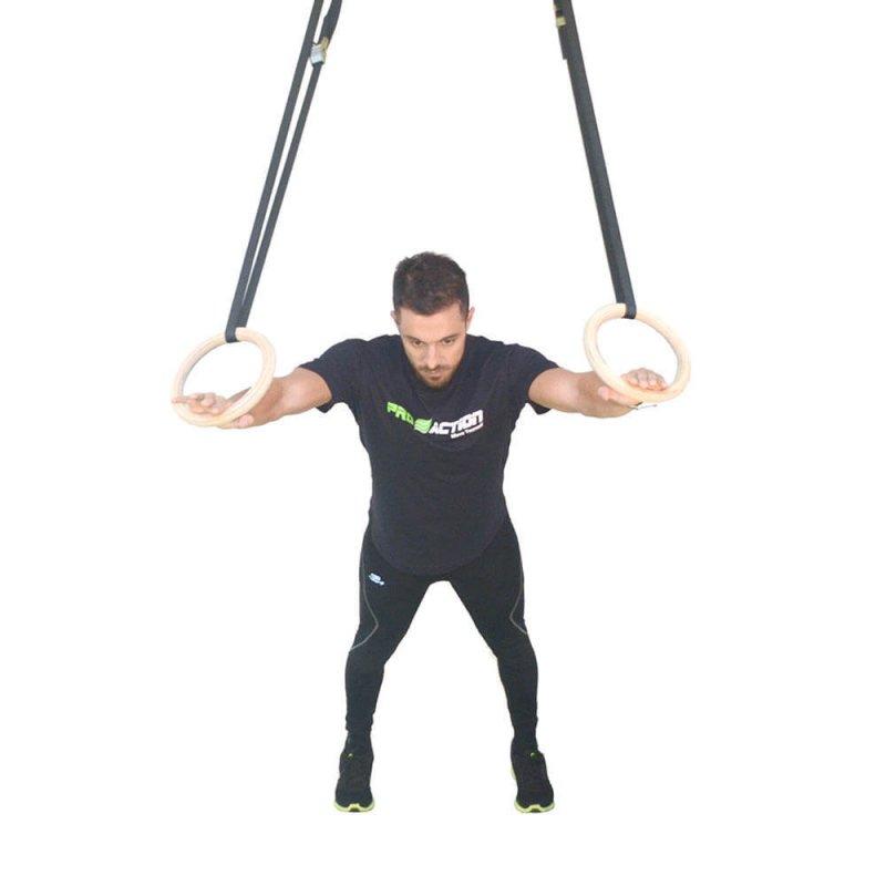 Argola Olímpica Gym Funcional de Madeira Proaction