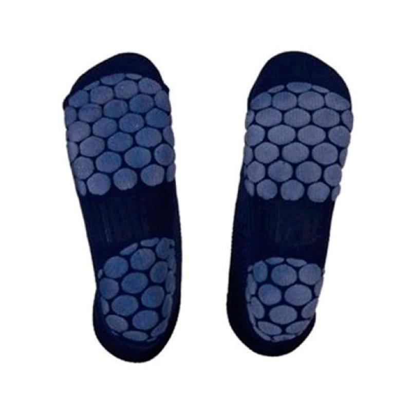 Meia HammerHead para Hidroginástica de Helanca M Solado Antiderrapante Azul Marinho