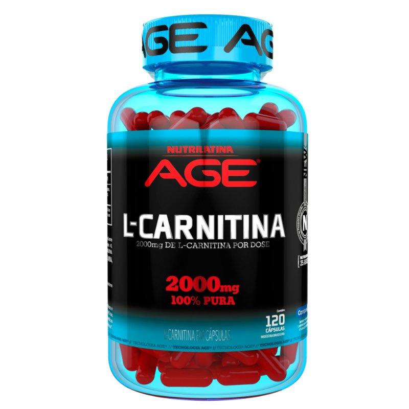 L-Carnitina Nutrilatina Age AZC - 120 Cápsulas