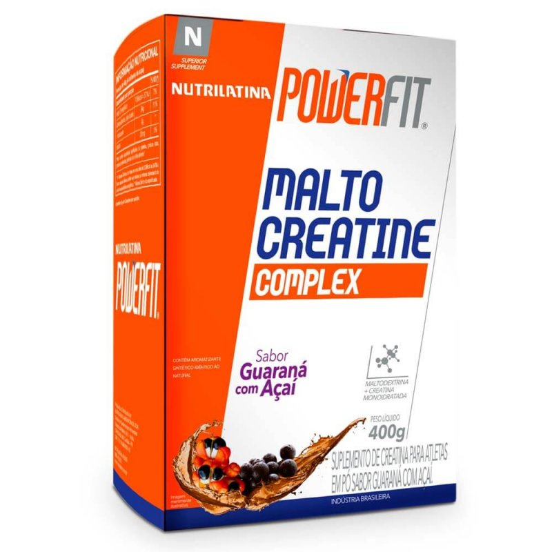 Malto Creatine Complex Nutrilatina PowerFit - 400g - Guaraná com Açaí