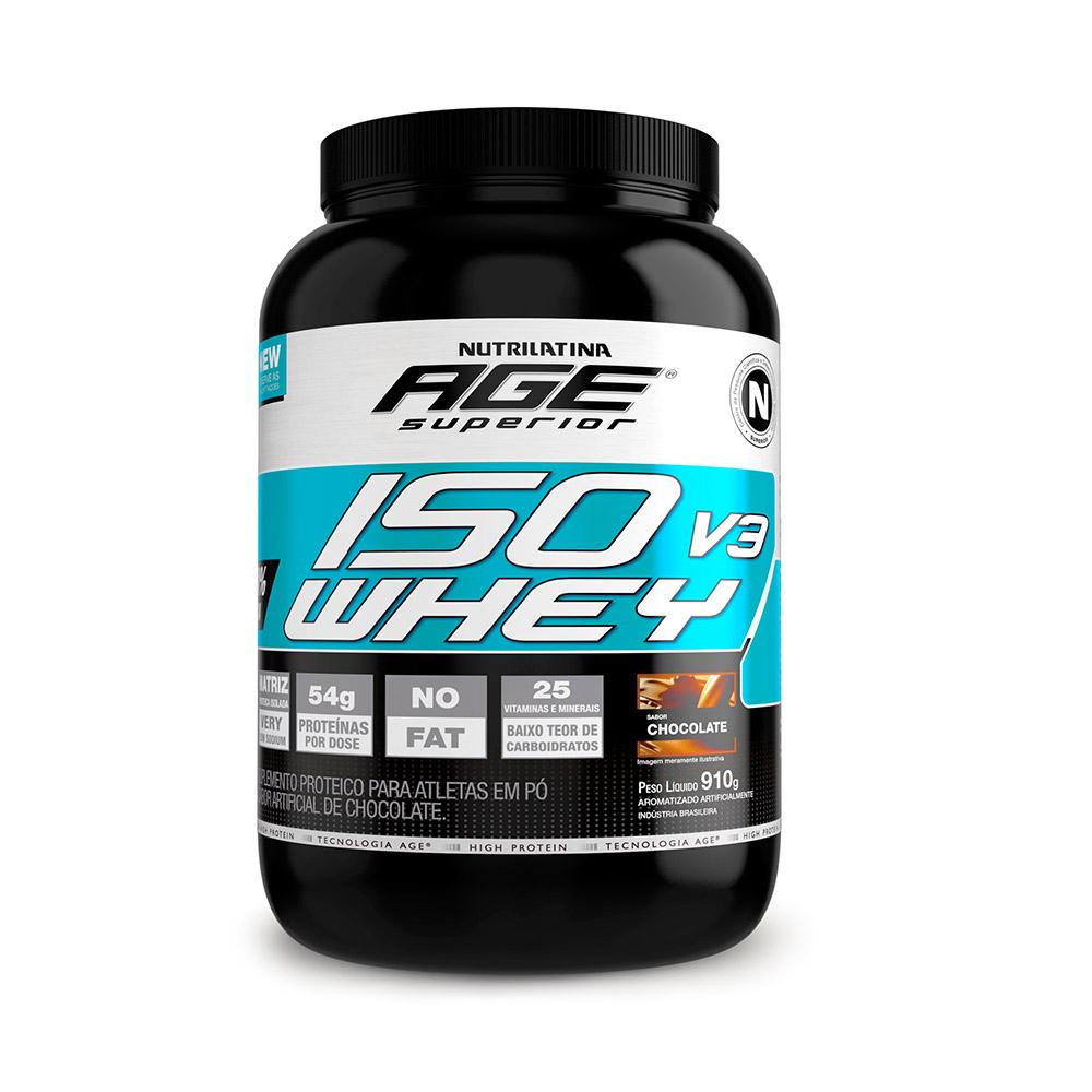 ISO Whey Nutrilatina Age Superior - 910g - Chocolate