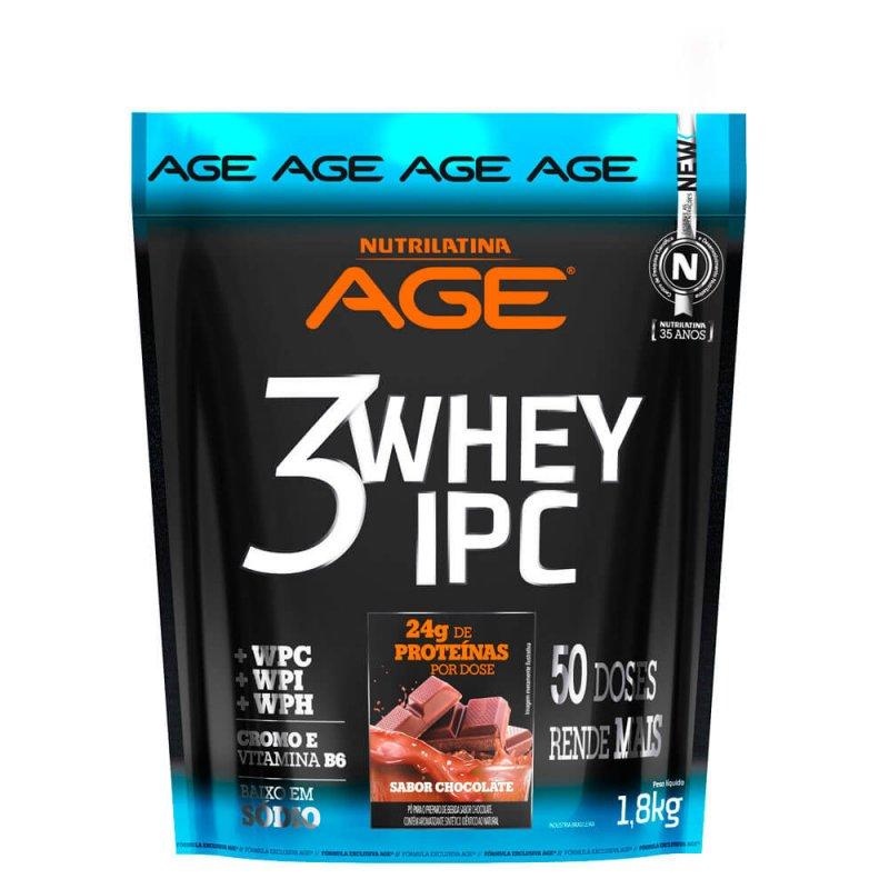 3 Whey IPC Nutrilatina Age - 1,8kg - Chocolate - Refil